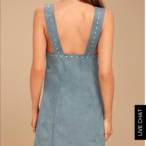 Somedays Lovin Dresses - Blue Faux Suede Mini Dress