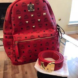 MCM Backpack And Belt
