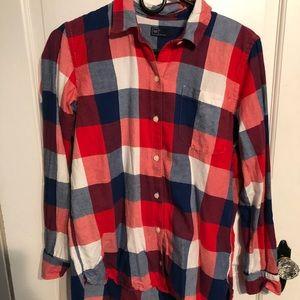 Gap red, white & blue buffalo check flannel