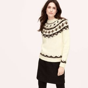 Ann Taylor Loft Embellished Fair isle Sweater