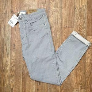 NWT H&M Striped Slim Fit Skinny Cropped Pants