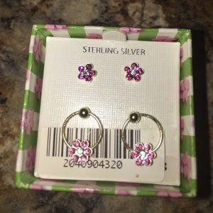 Girls sterling silver 🌸 earring