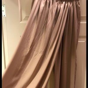 Full length Silk Skort Pants-Zara Basic