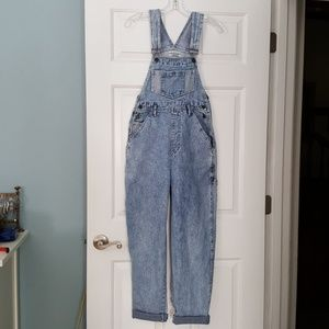Vintage 80's High Waist Stone Washed Overalls
