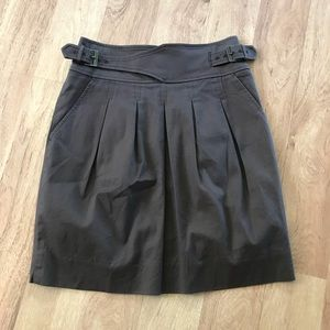 BCBG Fitted Brown Belted Waist Skirt Size 0