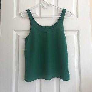 Madewell Green Silk Tank Size Small