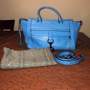 Rebecca minkoff aqua leather purse