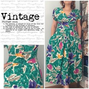 Vintage Button Back Dress