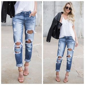 Denim - *ONLY A FEW LEFT* New Distressed boyfriend jeans