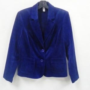 Kim Rogers Blue Cord Blazer Sz. 10 PETITE