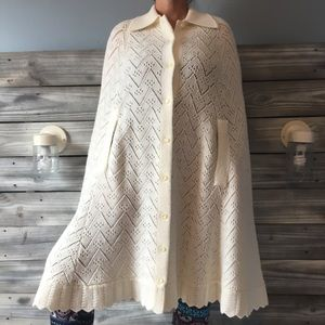 Vintage Knitted Poncho