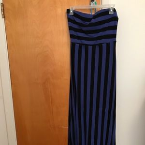Missimo Blue & Black Maxi Dress Skirt Size Large