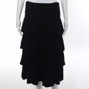 J. Crew Black Ruffled Skirt - M