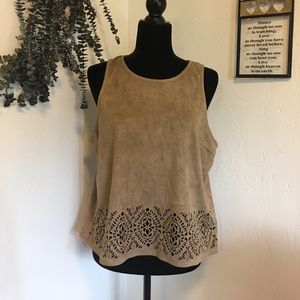 Charlotte Russe Suede top