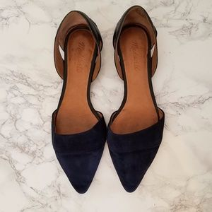 Madewell Navy Suede d'Orsay Flats