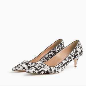 {J.Crew Collection} Dolce Calf Hair Heels