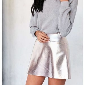 Urban Outfitters Metallic Skirt