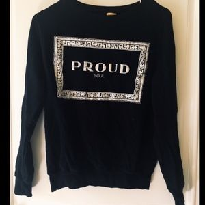 """Proud Soul"" Zara Graphic Sweatshirt"