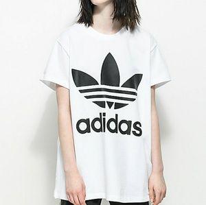 Adidas Trefoil White & Black Oversized T-Shirt