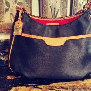 Saffiano Shoulder Bag with Trim