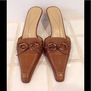 Kate Spade brown mule 7 1/2. Gently worn.