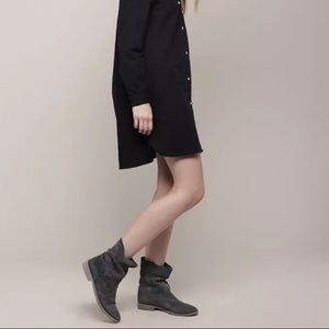 Isabel Marant Jenny suede boots Anthracite
