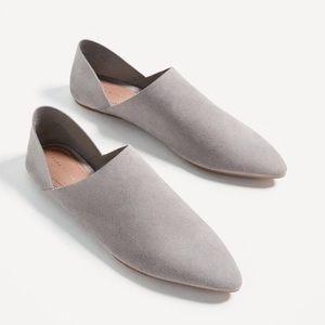 Zara Split Suede Slippers