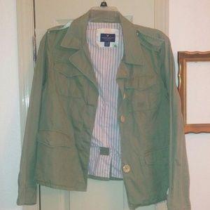 American eagle green blazer xxl