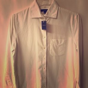 Classic Lands End Brushed Cotton Button Down