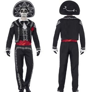 Other - Men's Day Of The Dead Mariachi Señor Bones Costume