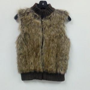 Kim Rogers Faux Fur Sweater Vest Sz. S