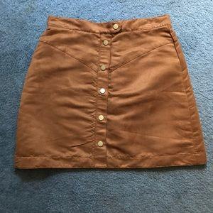 H&M NWOT Faux Suede Brown Tan Skirt