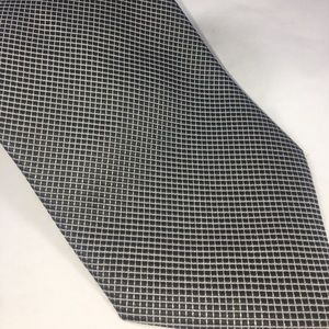 Giorgio Armani Black & Silver Squared Silk Tie