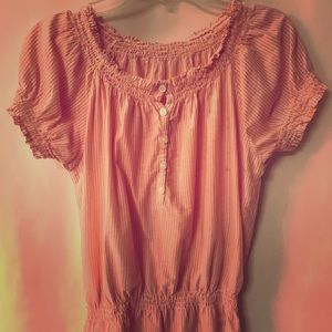 Cute Gathered Short Sleeved Top