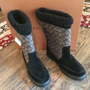New With Box Coach Mid Calf Boots