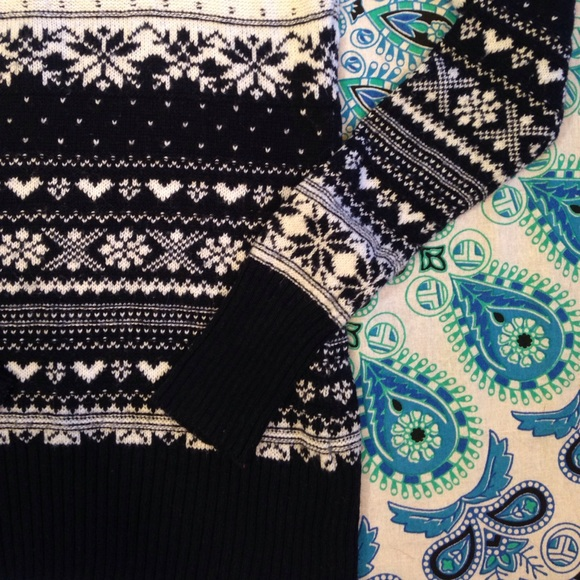 H&M - LOGG S Navy Blue and White Fair Isle Sweater from ...