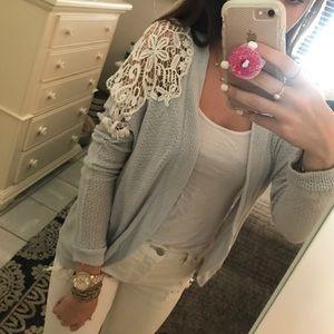 Crotchet detail sweater