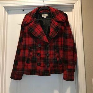 Wool/polyester blend coat