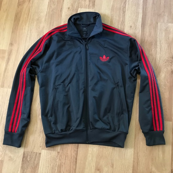 Red Adidas Striped Jacket Originals Gray And Men's ONn8kZPX0w