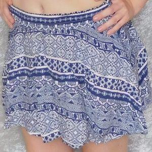 Blue China Flirty Skirt
