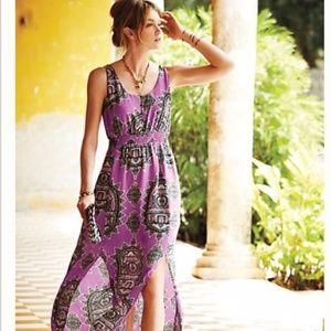 Anthropologie Maeve Annas Maxi Dress in Purple