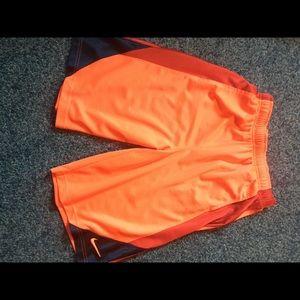 Nike red/orange basketball shorts