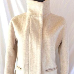 J.Crew size 6 Cream,beige wool pea coat jacket