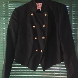 Juicy Couture military style crop wool jacket