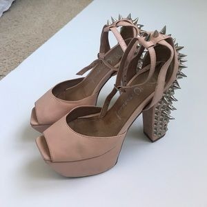Jeffrey Campbell spike light pink platform heel