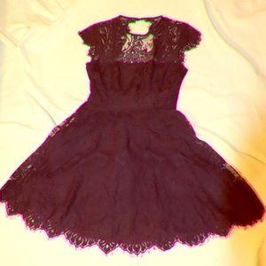 Nordstrom dark purple lace dress