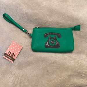 Green graphic Wristlet