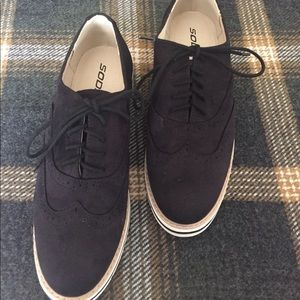 Black casual Lace up loafers