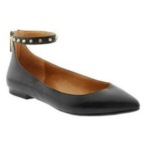 Banana Republic Studded Ankle-Strap Flats