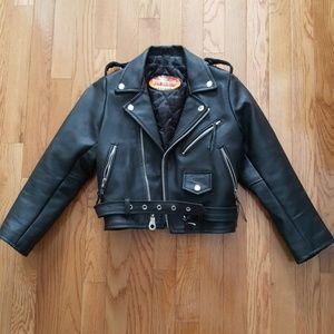 Vintage Genuine Leather Motorcycle Jacket
